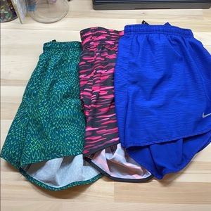 3 Pair Nike Running Shorts - Size - Large